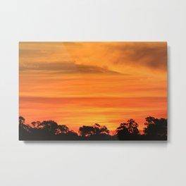 Okavango Sunset Metal Print