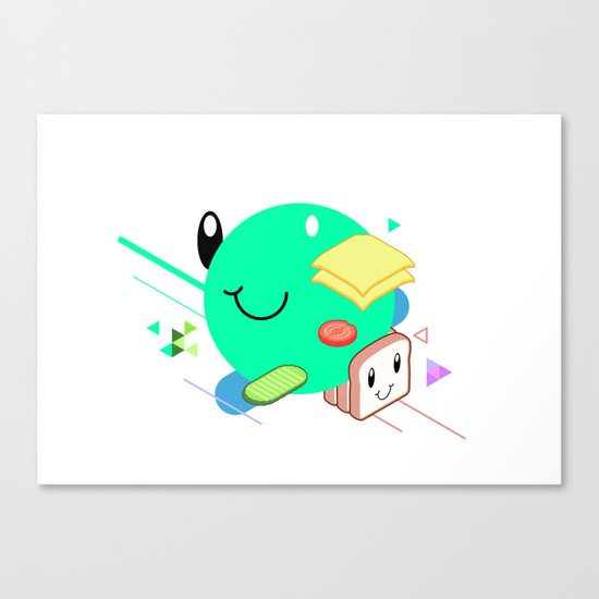 Tasty Visuals - Sandwich Time (No Grid) Canvas Print