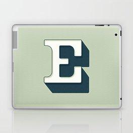 BOLD 'E' DROPCAP Laptop & iPad Skin