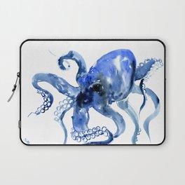 Navy Blue Octopus Artwork Laptop Sleeve