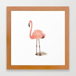 flamingo stance Framed Art Print