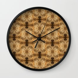 Collagraph Textures Wall Clock
