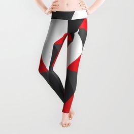 Geometric Pattern #20 (red triangles) Leggings