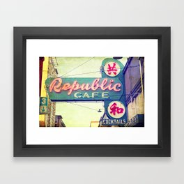 Rebublic Cafe Framed Art Print