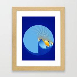 Fractal Wave Framed Art Print