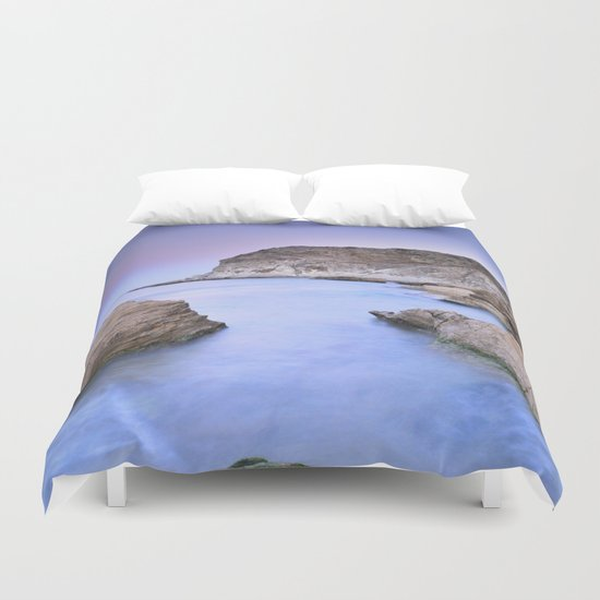 """Blue Volcano"" Duvet Cover"