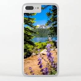 Flowers Filling the Foreground Clear iPhone Case