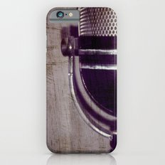 Vintage Microphone (scratched) iPhone 6s Slim Case