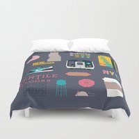nyc Duvet Covers featuring NYC by 914k