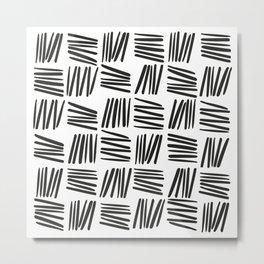 Tick 01 / Black and white print Metal Print
