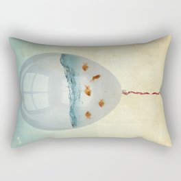 balloon fish o2, freedom in a bubble Rectangular Pillow