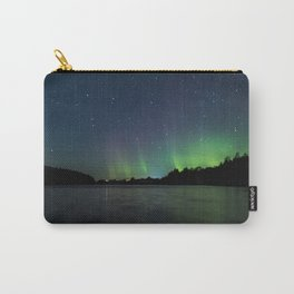 Northern Lights above a lake Carry-All Pouch