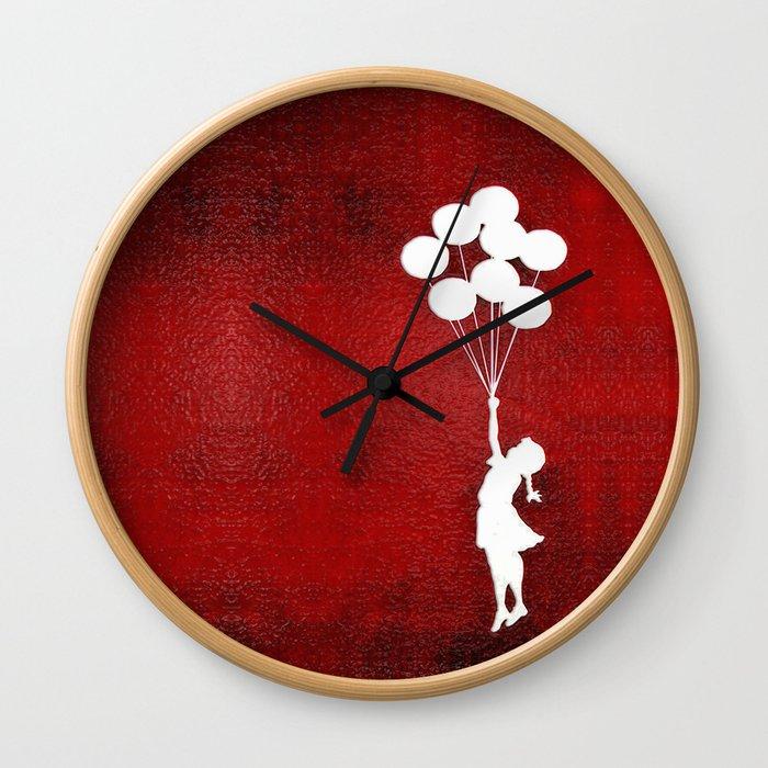Banksy the baloons girl Wall Clock