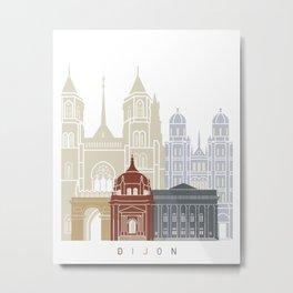 Dijon skyline poster Metal Print