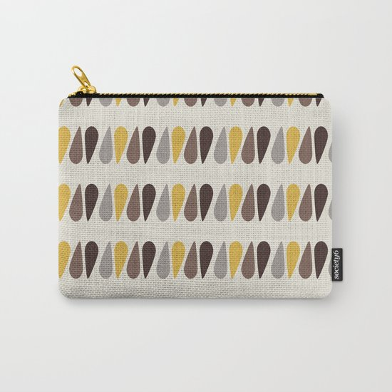 Pattern black brawn yellow Carry-All Pouch