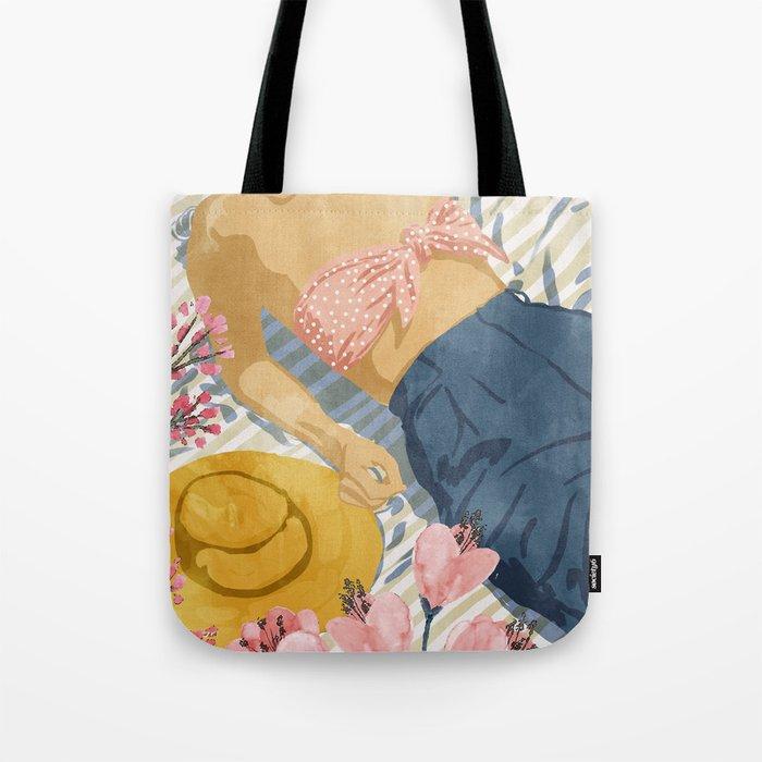 Beach Vacay #society6 #travel #illustration Tote Bag