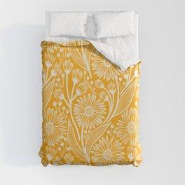 Saffron Coneflowers Duvet Cover