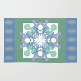 Home Sweet Home - Green Lavender Rug