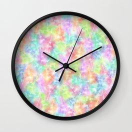Eiffel Tower Rainbow Pattern Wall Clock