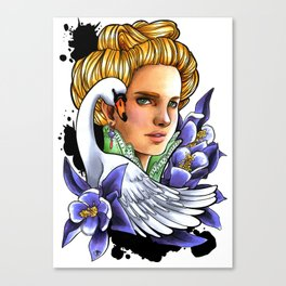Victorian woman - The Swan. Canvas Print