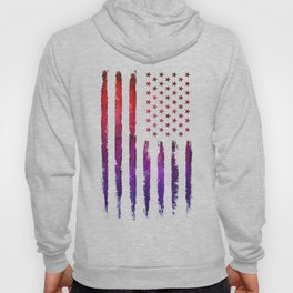 Red & blue gradient USA flag Hoody