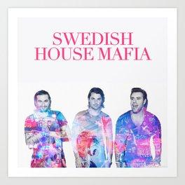 Swedish House Art Mafia Double Exposure Photo Art Art Print