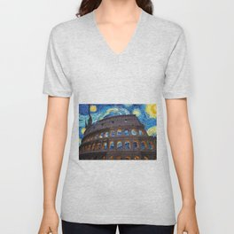Colosseo Starry Night Unisex V-Neck