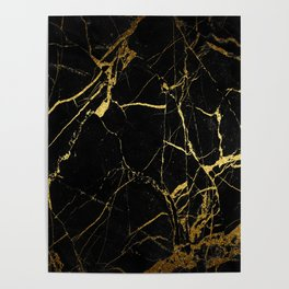 Black-Gold Marble Impress Poster