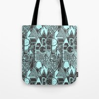 alphabet Tote Bags featuring Alphabet by Clare Corfield Carr