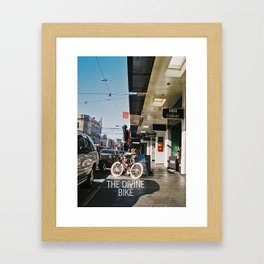 The Divine Bike (Chapel Street, 2013) Framed Art Print