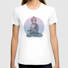 Buddha with dog1 T-shirt