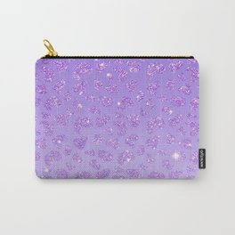 Trendy violet lavender glitter gradient animal print Carry-All Pouch