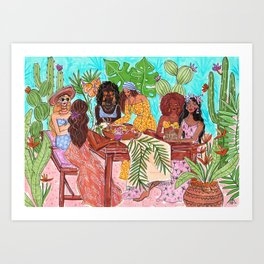 Brunch with my friends Art Print