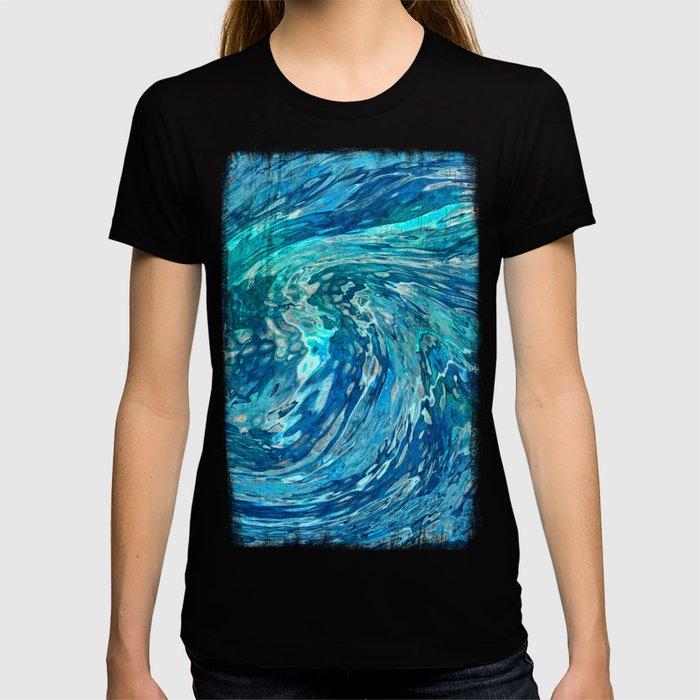 Fantastic abstract wave T-shirt