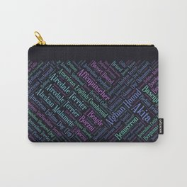 Dog breeds word art Carry-All Pouch