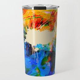 orange blue Travel Mug