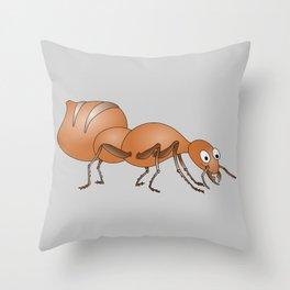 Cute Ant Throw Pillow