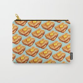 Toast Pattern Carry-All Pouch