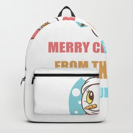 Cute Snowman Christmas Gift For Judge's Backpack