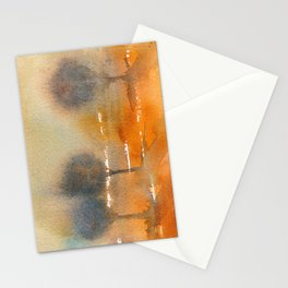 """""""MISTY AUTUMN TREES"""" Original Watercolor Painting by Doreen Koch Allen Stationery Cards"""