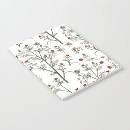 comforters Flowers Pattern Notebook