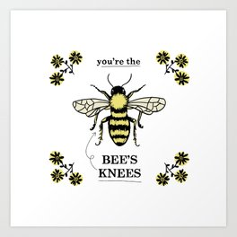 Bee's Knees Art Print