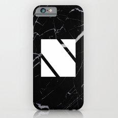 Black Marble - Alphabet N Slim Case iPhone 6s