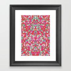 Chaotic Circles Pattern Framed Art Print