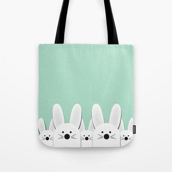 Spying Bunnies Tote Bag