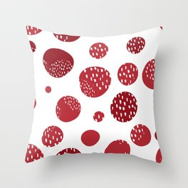 Abstract design with circles Throw Pillow