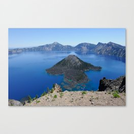 Crater Lake Volcanic Crater Oregon USA Canvas Print