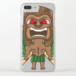 Hawaiian Tiki Clear iPhone Case