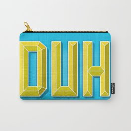 """""""DUH"""" 3D Letters (Light Blue, Yellow) Carry-All Pouch"""
