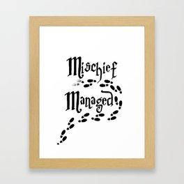 Mischief Managed Framed Art Print